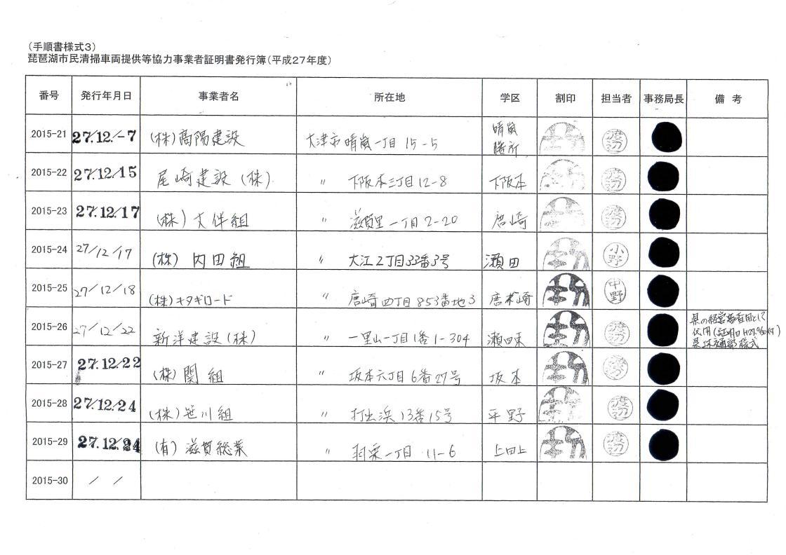 平成27年度琵琶湖市民清掃/協力証明書/市の総合評価方式で加点/業者一覧③_01